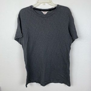 Rag & Bone Striped T Shirt Tee 100% Cotton Grey